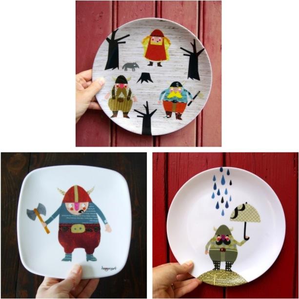 """""""Viking plates for children"""""""
