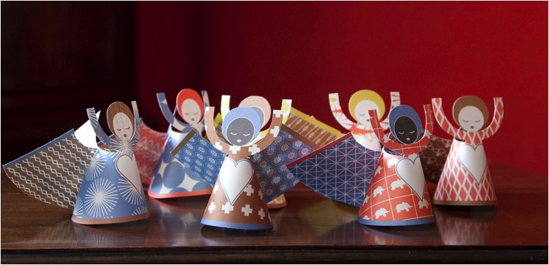 """""""Christmas Paper Angels"""""""