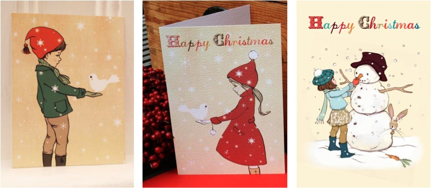 """""""belle and boo kids christmas cards"""""""