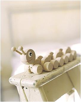 """""""wooden pull along caterpillar"""""""