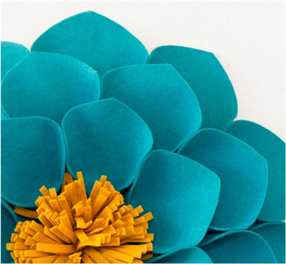 """fabric wall flowers"""