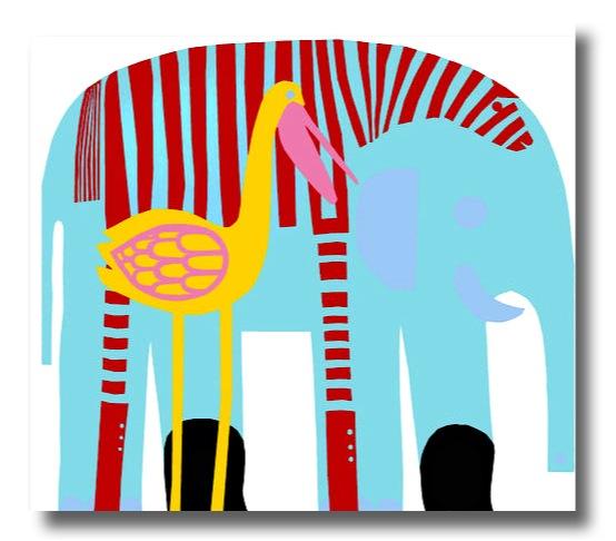 """""""marimekko elephant wall hanging"""""""