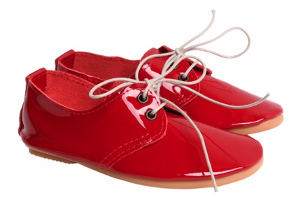 """""""Red patent leather shoes for kids"""""""