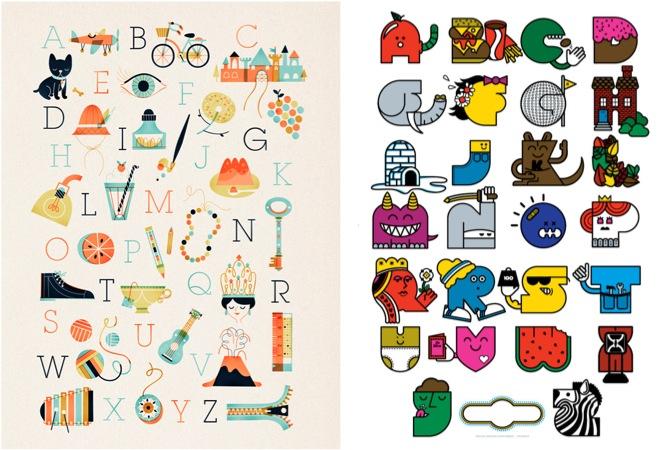 """vintage alphabet poster"""
