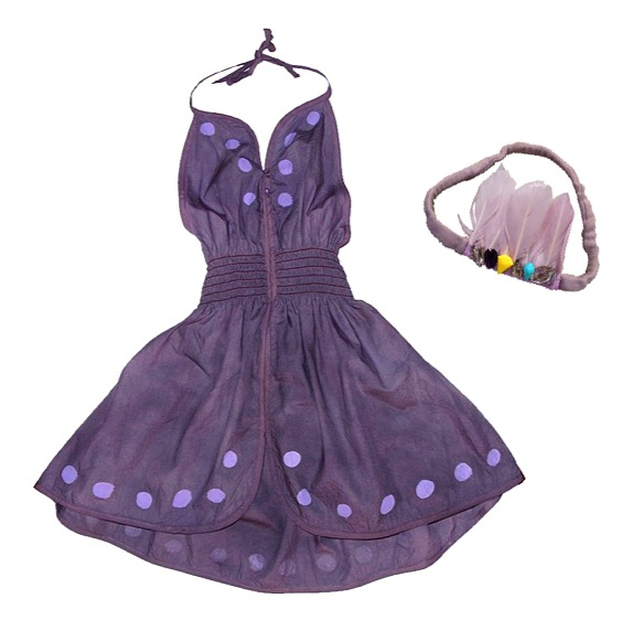 """""""wovenplay darger dress and feather headband"""""""