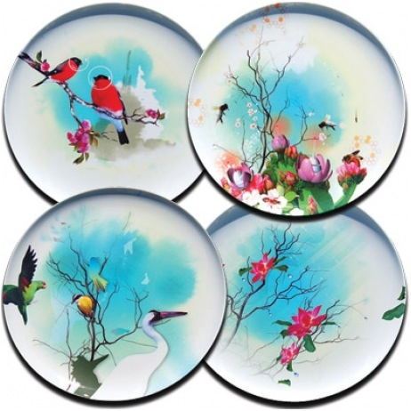 """Birds of Feather melamine plates"""
