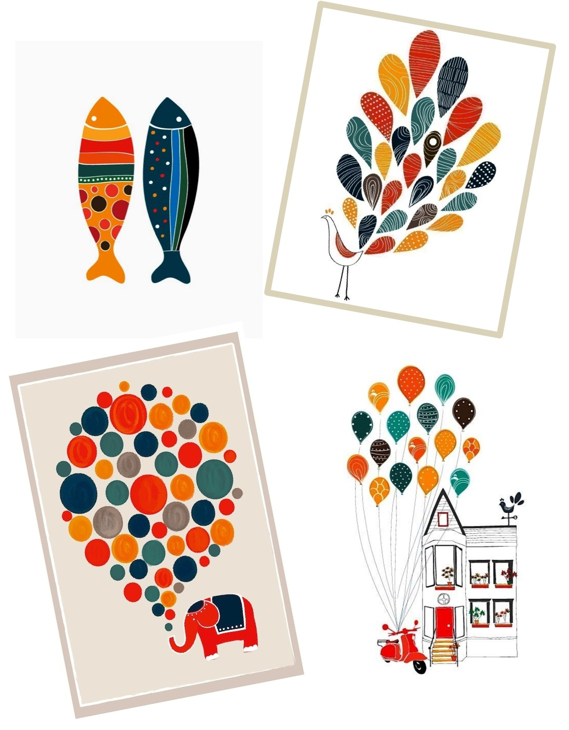 """nursery art with animals by dekanimal"""