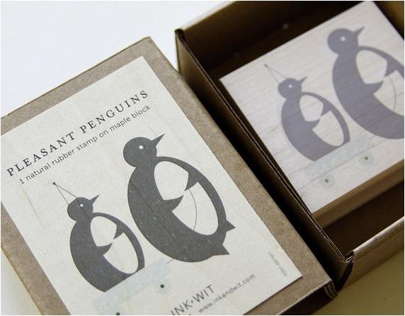 """""""penguin stamp set for kids"""""""