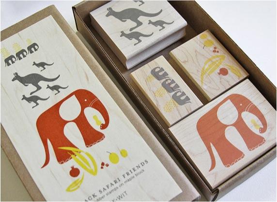 """safari stamp set for kids"""