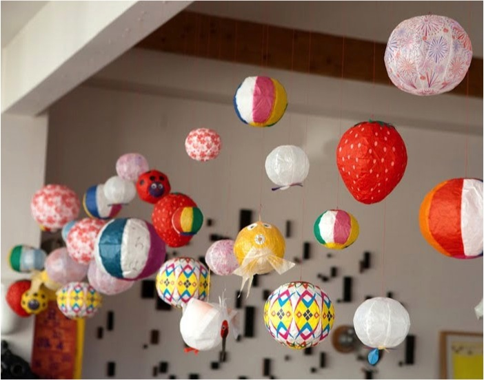 """""""colourful japanese paper balloons"""""""
