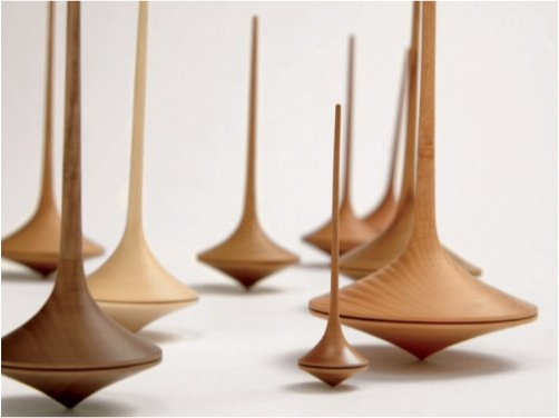 """""""hand made wooden spinning top"""""""