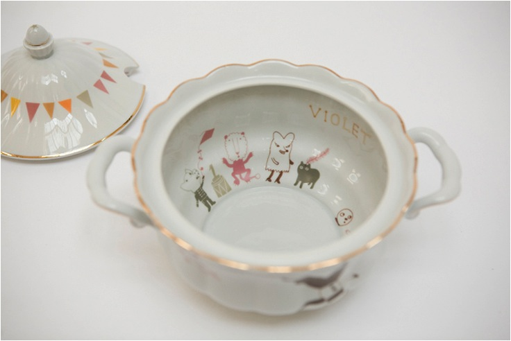 """studio violet porcelain set"""