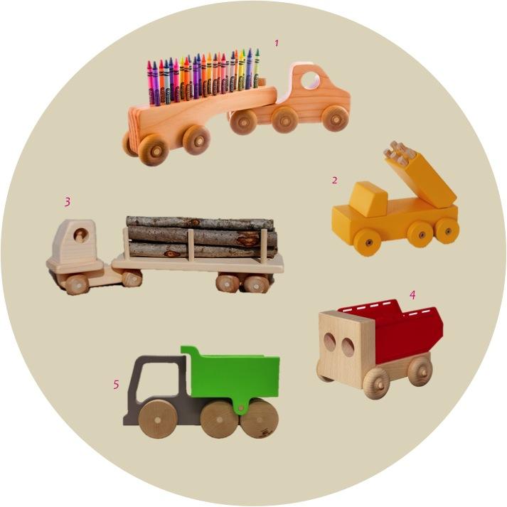 """""""5 best wooden toy trucks"""""""