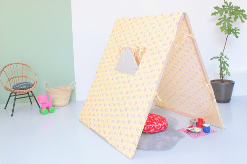 """wooden play tent for kids"""