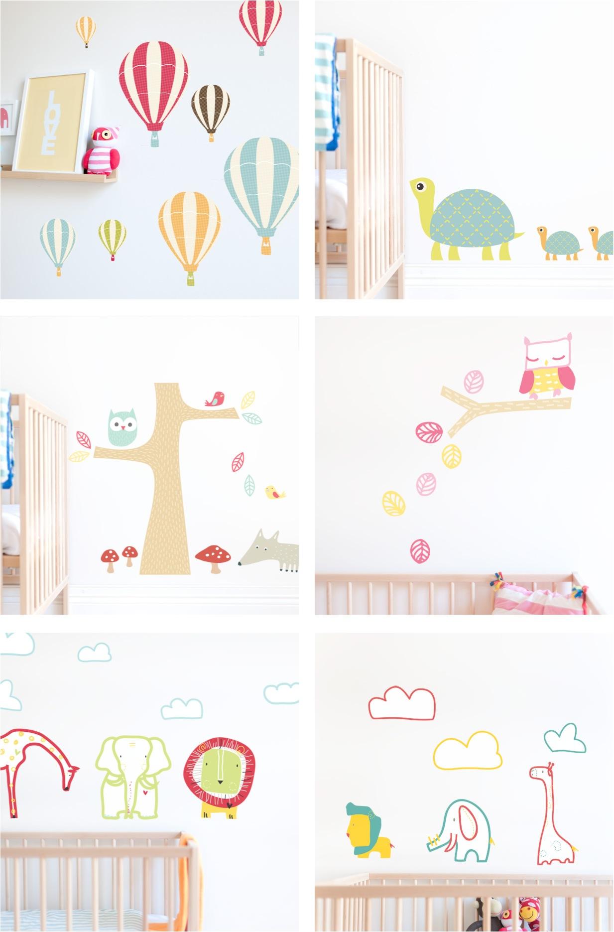 """nursery fabric wall stickers"""