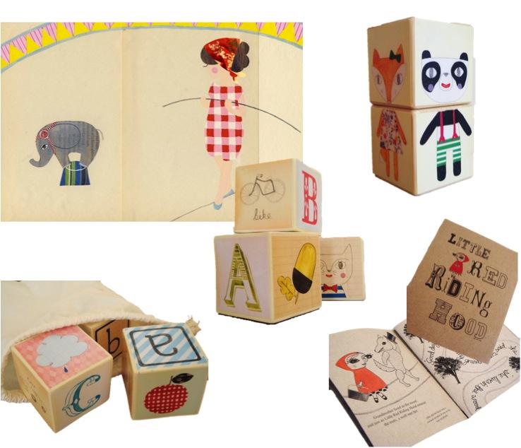 """hand painted wooden alphabet blocks"""