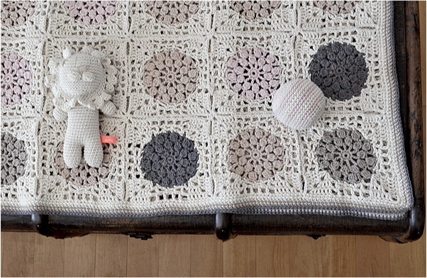 """crochet baby blanket and rattle"""