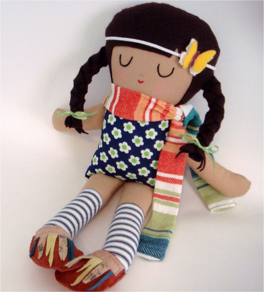 """hand made fabric doll"""