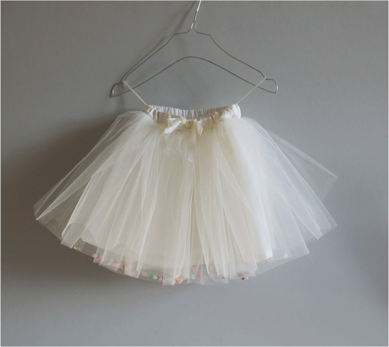 """white tulle skirt for girls"""