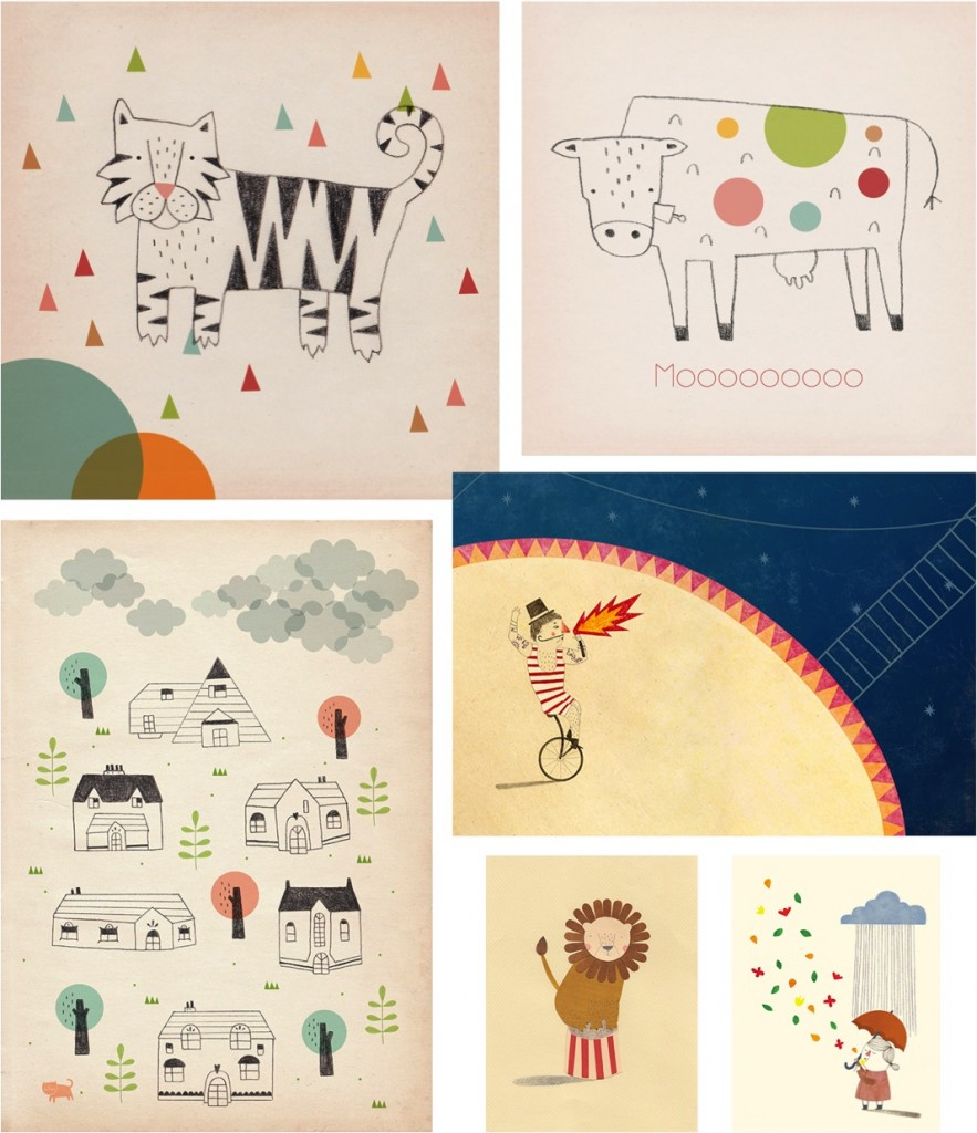 """kids room art by Stefania Manzi"""