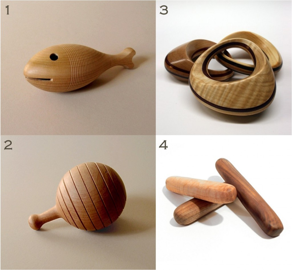 """""""wooden rattles for babies"""""""