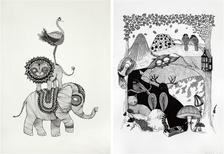"""black & white posters for kids"""
