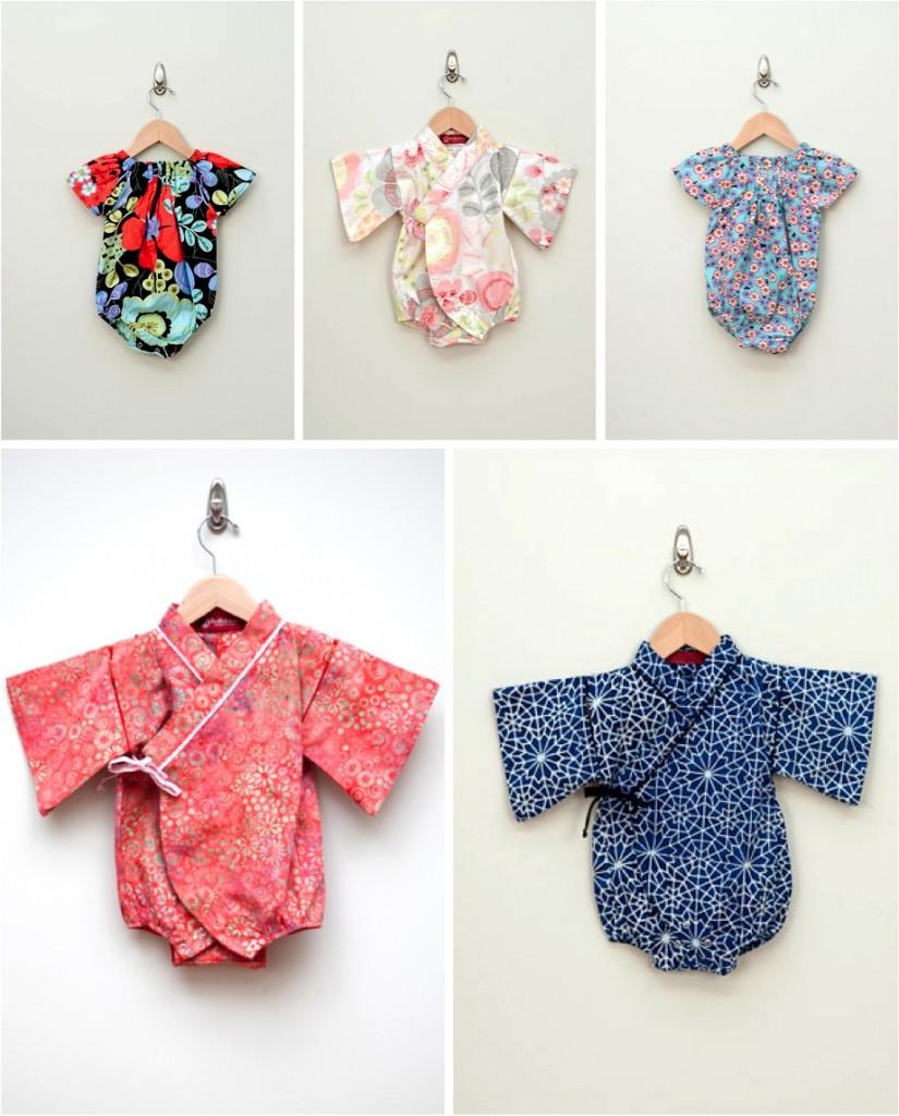 """""""baby kimono onesie"""""""