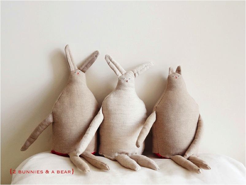 """hand made rabbit soft toy"""