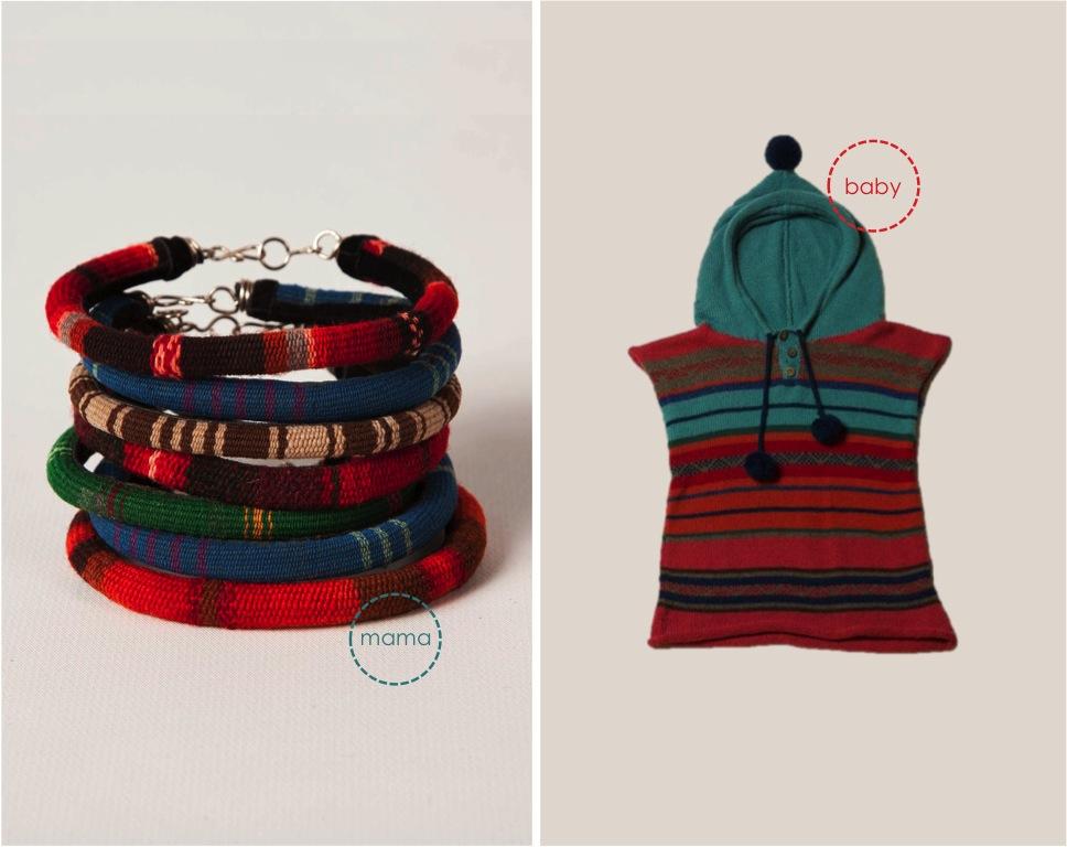 """hooded poncho wool bracelets"""