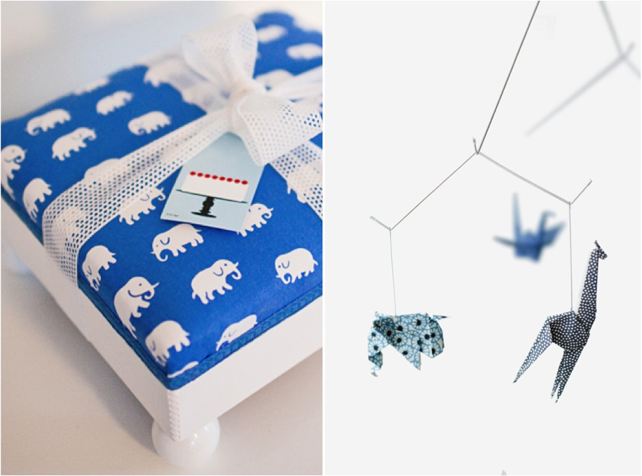"""elephant stool, origami mobile"""
