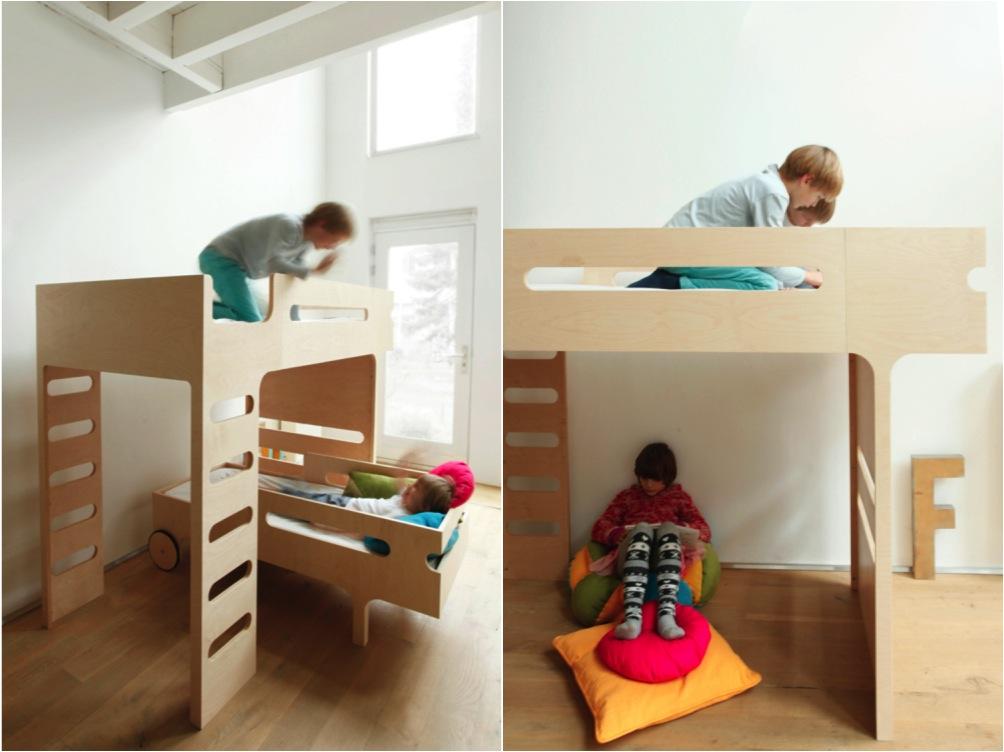 """""""wooden kids bunk bed"""""""