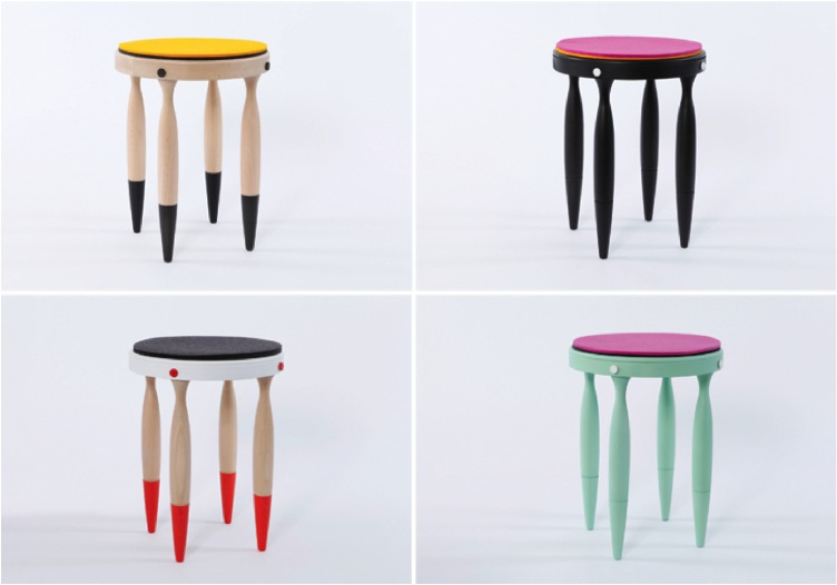 """""""colourful stools for kids rooms"""""""