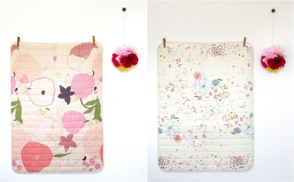 """""""pretty floral quilts for kids"""""""