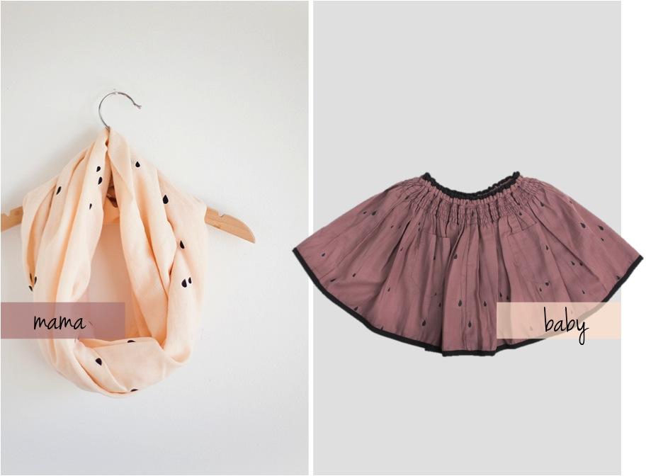 """""""raindrop print skirt for girls"""""""