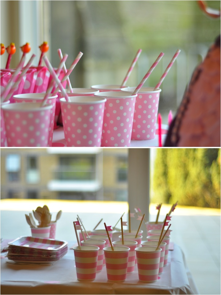 """pink paper party cups"""