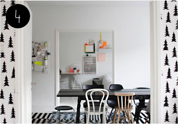 """black and white scandinavian decor"""