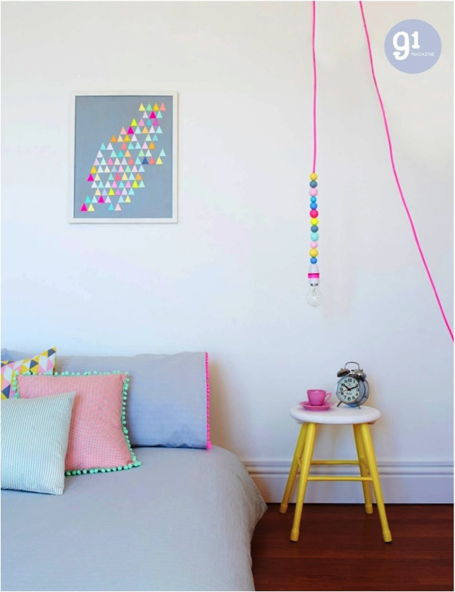 """neon and pastel room"""