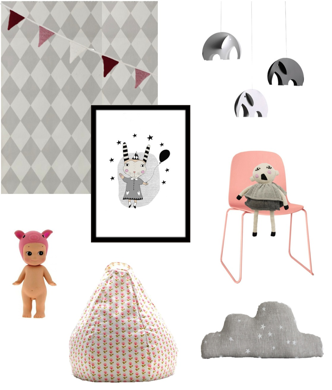 """""""pink and grey kids room ideas"""""""