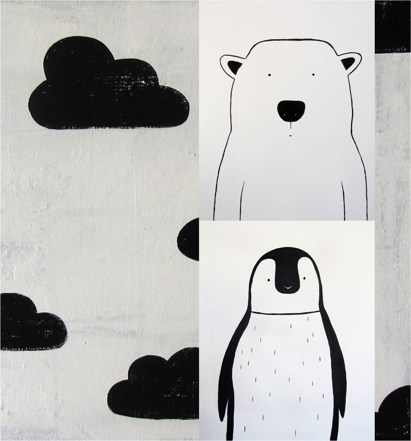 """black and white nursery art"""
