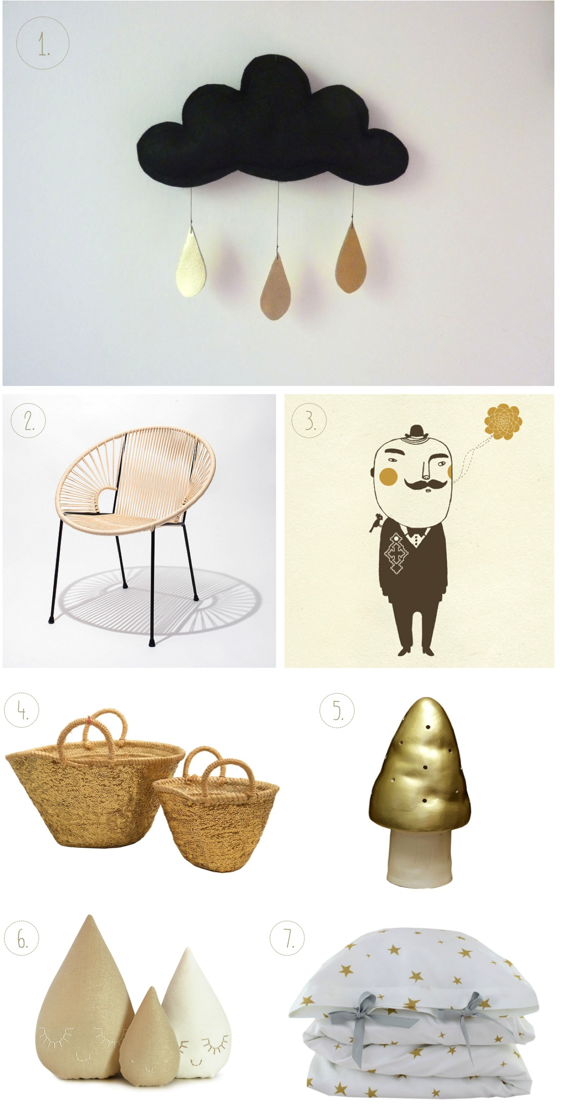 """gold nursery decor ideas"""
