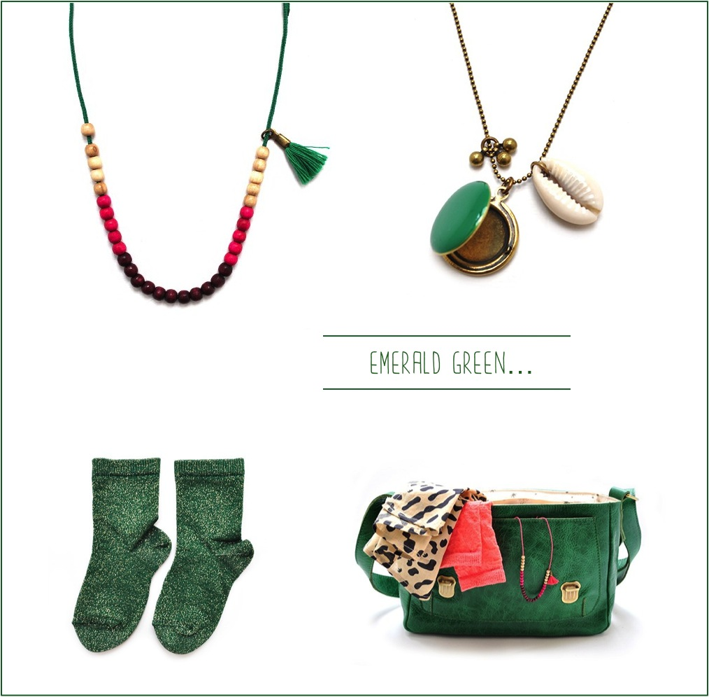 """green french accessories for girls"""
