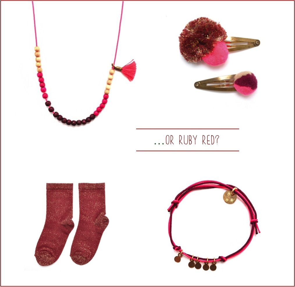 """red french accessories for girls"""