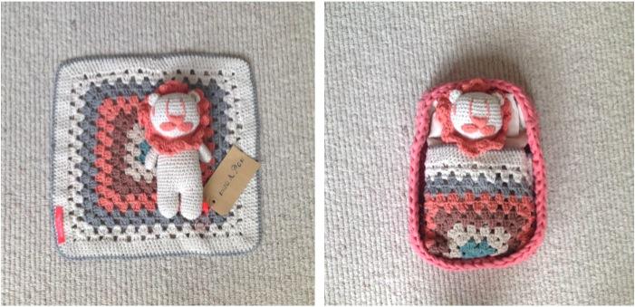 """handmade crochet rattle toy"""