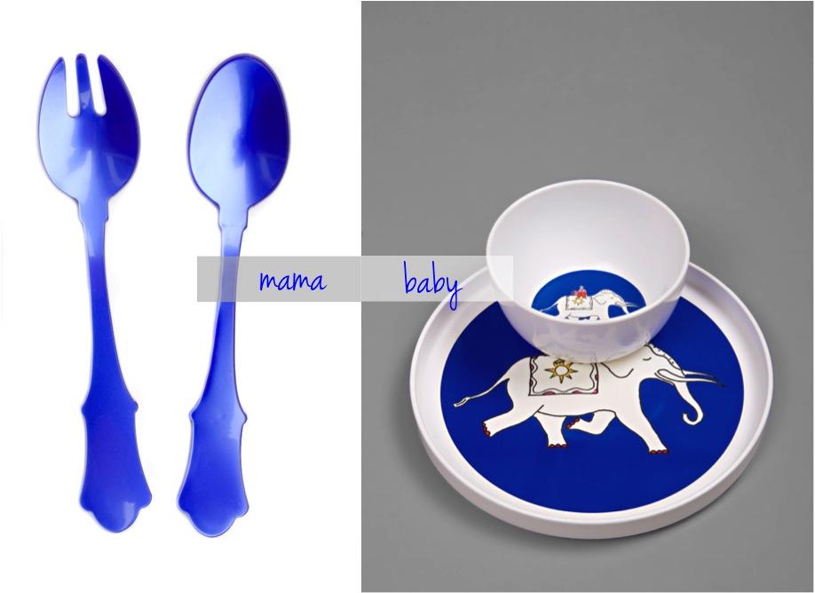 """""""blue melamine dinner set"""""""
