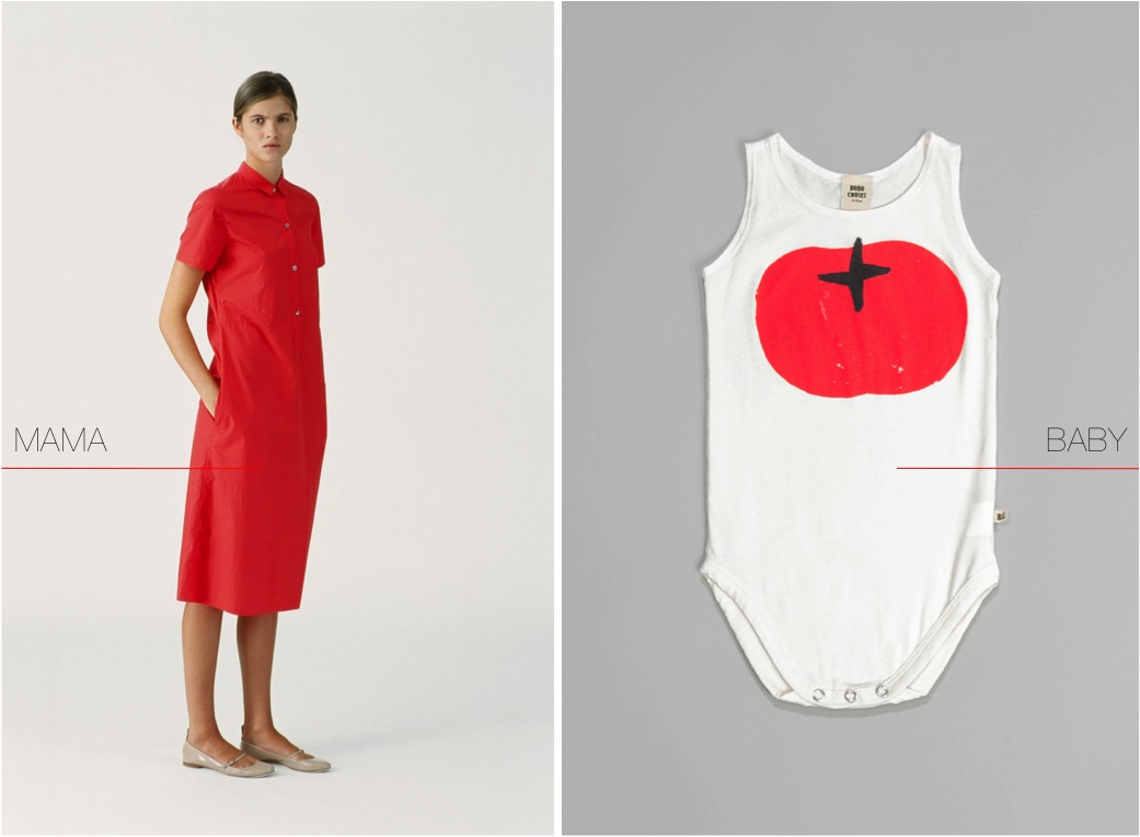 """red tomato baby bodysuit"""