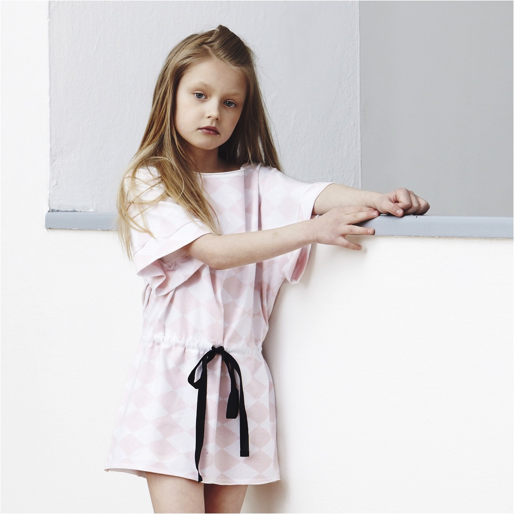 """baby pink tunic dress girls"""