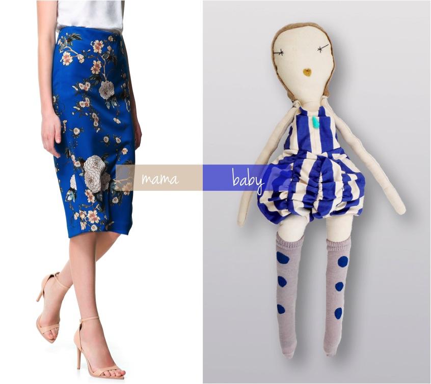 """handmade rag doll blue"""