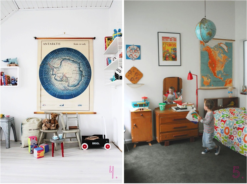 """maps in kids rooms"""