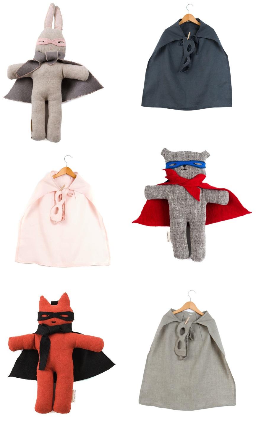 """""""linen superhero cape and mask set"""""""