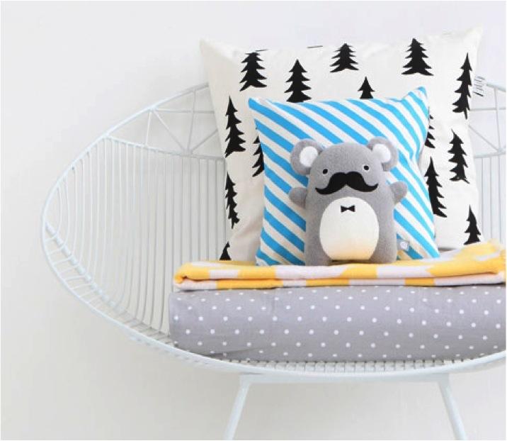 """modern nursery bedding and cushions"""